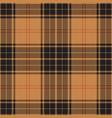 black and beige tartan plaid scottish pattern vector image vector image