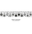black seamless snowflake border white background vector image vector image