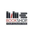 book store emblem vector image
