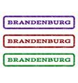 brandenburg watermark stamp vector image vector image