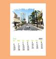 calendar sheet phoenix june month 2021 year vector image vector image