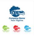 car wash logo cleaning car washing and service vector image vector image