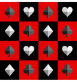 Card Suit Chess Board Red Black vector image