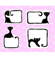 cat stickers vector image vector image