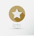 christmas star icon with long shadow vector image vector image