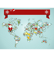 Christmas World map concept vector image vector image