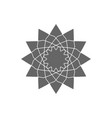 circular geometrical ornament vector image vector image