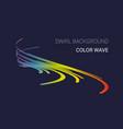 colorful sound wave logo company emblem vector image vector image