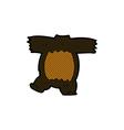 comic cartoon black bear body vector image vector image