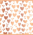 copper foil hearts white seamless pattern vector image vector image
