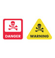 danger warning message signs set red vector image vector image