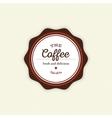 Delicious coffee label vector image vector image