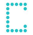 digital letter c display board round dot vector image vector image