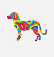 Dog abstract colorfully vector image vector image
