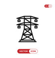 electric tower icon vector image vector image