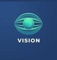 eye vision logo template vector image vector image