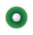 flat color golf ball vector image vector image