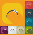 flat modern design with shadow icons bijouterie vector image vector image