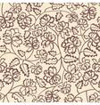 flower pattern on beige background vector image vector image