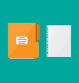 folder for correspondence and file for document vector image