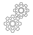 Gear icon outline style vector image vector image