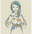 Girls astrological sign Libra vector image