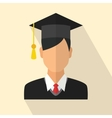 Graduates student vector image vector image