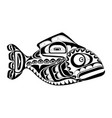 haida perch tattoo vector image vector image