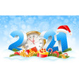 happy new year 2021 vector image vector image