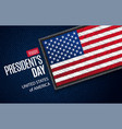 happy presidents day greeting card usa flag on vector image vector image