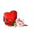 Holiday Valentines day background Red roses with vector image vector image