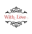I Love You header with text vector image vector image
