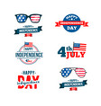 independence day 4th of july typographic design vector image