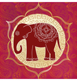 Indian elephant with mandalas vector image vector image