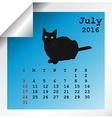July 2016 Calendar vector image