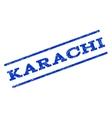 Karachi Watermark Stamp vector image vector image