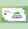 landing page template education modern flat vector image