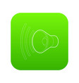 loud volume up icon green vector image