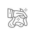 magic trick with handkerchiefs circus line icon vector image vector image