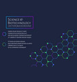modern background with hexagons chemical bonds vector image