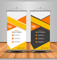 modern orange roll up banner advertising template vector image