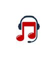 music podcast logo icon design vector image vector image