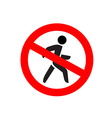 No entry symbol Stop no walking pedestrian warning vector image