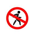 No entry symbol Stop no walking pedestrian warning vector image vector image