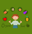 organic food healthy vector image