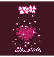 Original valentine tree under heart rain vector image vector image