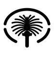 palm jumeirah icon dubai island map vector image vector image