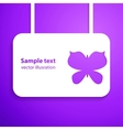 paper cut out butterfly with smooth vector image vector image