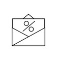 percentd iscount coupon icon vector image vector image