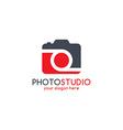 photography theme logotype vector image vector image